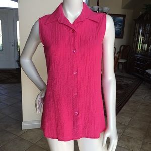 White Stag sleeveless blouse ladies size small ❤️